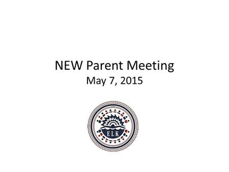 NEW Parent Meeting May 7, 2015. Who are we? Our mission – Our mission is to use the sport of swimming to build character, leadership & discipline into.