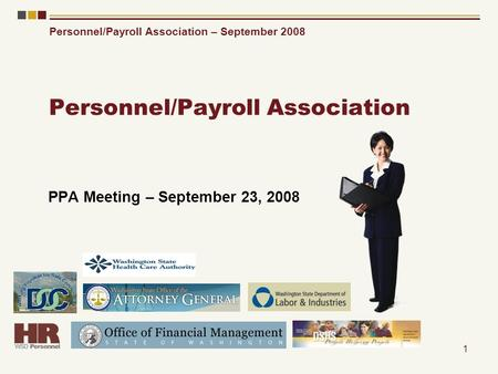 Personnel/Payroll Association – September 2008 1 Personnel/Payroll Association PPA Meeting – September 23, 2008.