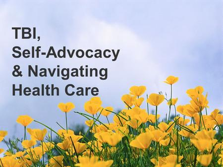 TBI, Self-Advocacy & Navigating Health Care. What is P&A?
