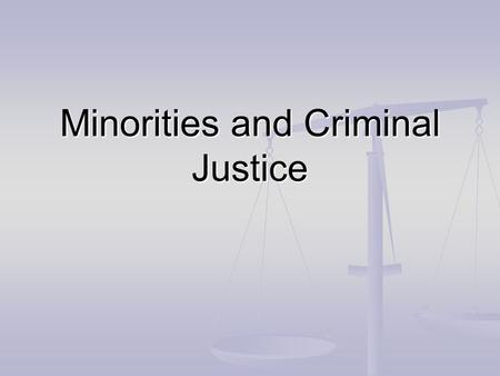 Minorities and Criminal Justice. What do you think the person wearing this badge does?