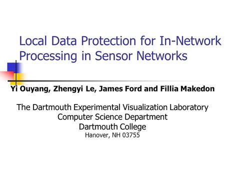 Aggregation in Sensor Networks