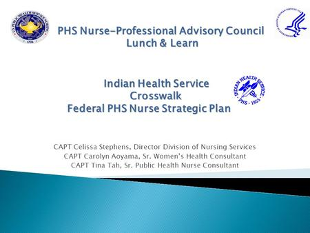 PHS Nurse-Professional Advisory Council Lunch & Learn