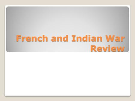 French and Indian War Review. Militia A group of civilians trained to fight in emergencies is called.