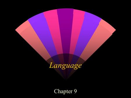 Language Chapter 9. Language A form of communication based on symbols Spoken, written, or signed Displacement quality Infinite generativity.