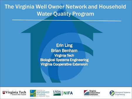 The Virginia Well Owner Network and Household Water Quality Program.