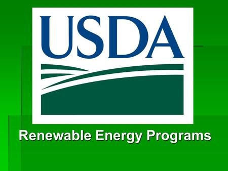 Renewable Energy Programs. Advancing Investments and Innovation in the Recovery of Renewable Technologies Expanding Renewable Energy and Efficiency February.
