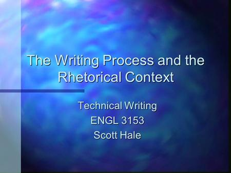 rhetorical thinking and the writing process For this reason, many scholars in composition and rhetoric advocate  the [ writing]process into one that involves multi-modal thinking, and.