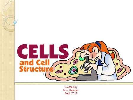 Created by Mrs. Herman Sept. 2012. Cell Theory All living things are made of one or more cells The cell is the smallest unit of life All new cells come.