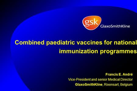 Combined paediatric vaccines for national immunization programmes