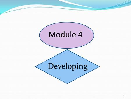 Module 4 Developing 1. CHRM Life Cycle 2 Planning Structuring Acquiring Developing Sustaining You are here.
