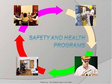 OSHAX.org - The Unofficial Guide To the OSHA1. Benefits of Effective Safety and Health Programs Reduce work related injuries and illnesses Improve morale.