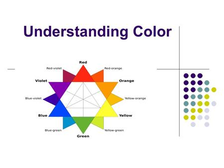 Understanding Color. Colors for you Colors affect you in many ways. Look at these images: They affect you in two different ways because Of the colors.