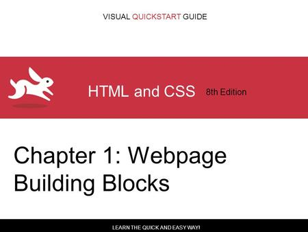 Html and css visual quickstart guide 8th edition