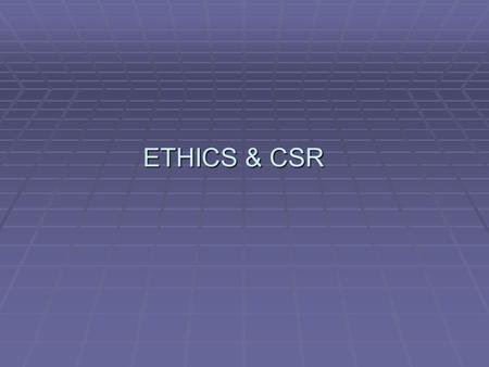 csr an indian perspective Ethics in corporate social responsibility  of ethics in csrthe study and examination of  highlighted the beautiful and deep roots of indian ethos from which.