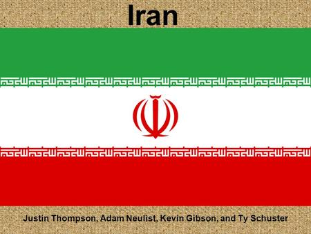 Iran Justin Thompson, Adam Neulist, Kevin Gibson, and Ty Schuster.