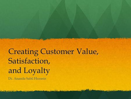 Building Long Term Customer Loyalty in Disposable Times