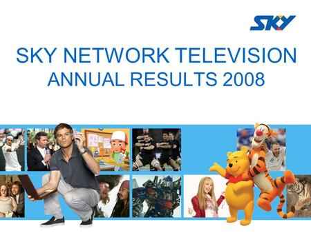 SKY NETWORK TELEVISION ANNUAL RESULTS 2008. JOHN FELLET CEO.