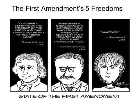 The First Amendment's 5 Freedoms