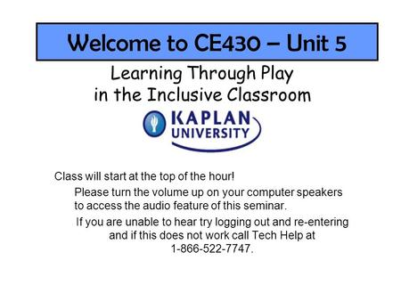 in the Inclusive Classroom