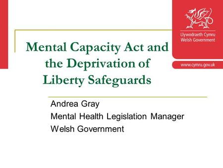 legislation for mental health