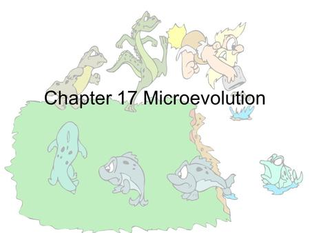 Chapter 17 Microevolution. Designer Pets The many varieties or breeds have been produced through artificial selection by humans Some breeds would have.