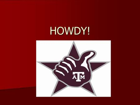 HOWDY!. And thank you for your interest in becoming an Aggie Student Athletic Trainer! The following information should help you with your application.