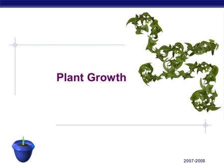 AP Biology 2007-2008 Plant Growth AP Biology Growth in Animals  Animals grow throughout the whole organism  many regions & tissues at different rates.