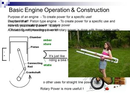 Basic Engine Operation & Construction