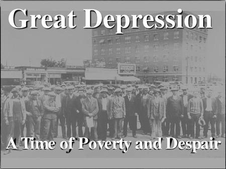 THE GREAT DEPRESSION. Industries in Trouble Key basic industries barely made profits Railroads, Textiles, and Steel Mining and Lumbering needed for war.