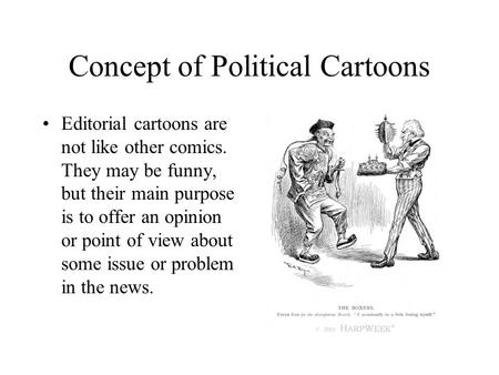 Concept of Political Cartoons