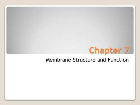 Chapter 7 Membrane Structure and Function. Fibers of extracellular matrix (ECM) Glycoprotein Carbohydrate Microfilaments of cytoskeleton Cholesterol Integral.