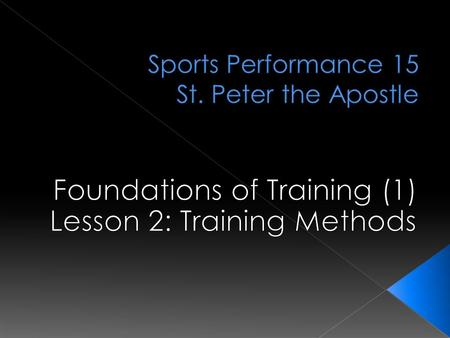  A relatively new term in performance  This is the _____________ type of training in sports  Combination of ________ components – Strength, Power,