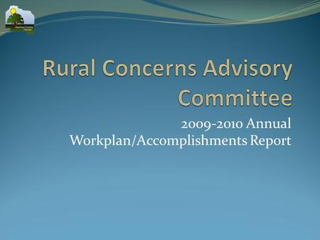 2009-2010 Annual Workplan/Accomplishments Report.