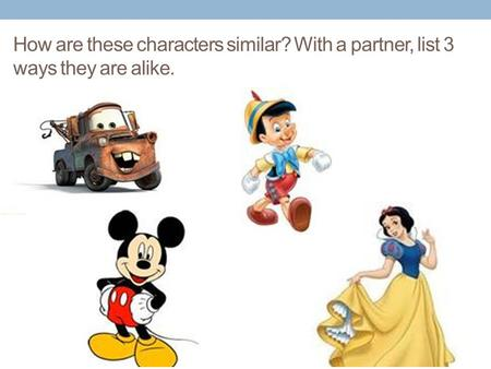 How are these characters similar