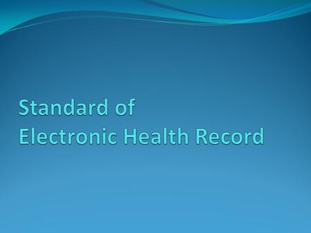 Definition and Scope Electronic medical record Departmental EMR Inter-departmental EMR Hospital EMR Inter-hospital EMR Electronic patient record Computerised.
