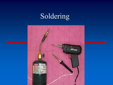 Soldering. Definition---A technique used in making and repairing wiring whereby two pieces of wire are joined by applying a molten metal which has a lower.