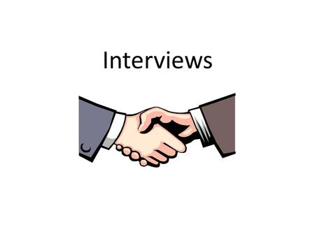Interviews. Job Interview for Pepsi This is an example of a well planned interview