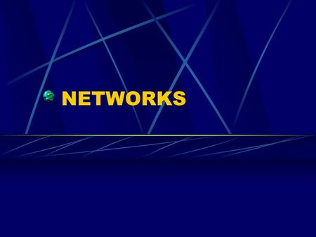 NETWORKS. Definition A combination of hardware and software that allows computers to exchange data and share software and devices, such as printers.