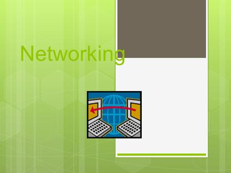 Networking LAN (Local Area Network)  A network is a collection of computers that communicate with each other through a shared network medium.  LANs.
