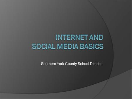 Southern York County School District. About Your Instructor Kellin McCullough – Business Teacher.