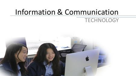 Information & Communication TECHNOLOGY. International General Certificate of Secondary Education.