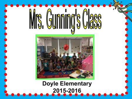 Class Picture Goes in this Section Doyle Elementary 2015-2016.