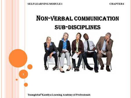 Non-verbal communication sub-disciplines