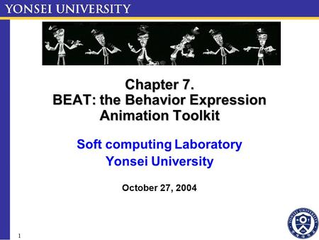 Chapter 7. BEAT: the Behavior Expression Animation Toolkit