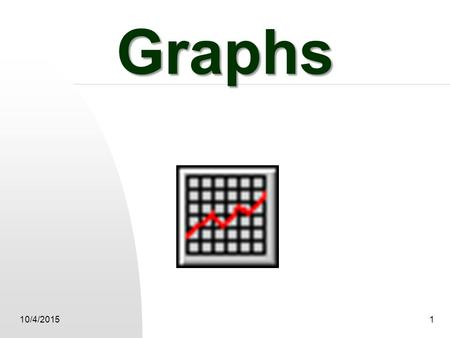 10/4/20151 Graphs 2 Today we are going to graph. What are the parts of a graph?