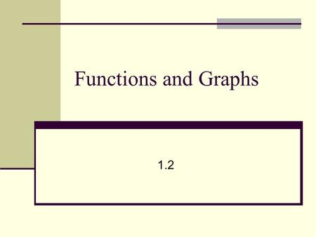 Functions and Graphs 1.2. FUNCTIONSFUNCTIONS Symmetric about the y axis Symmetric about the origin.