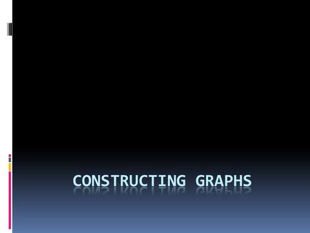 "Why are Graphs Useful? AA graph is a ""picture"" of your data. GGraphs can reveal patterns or trends that data tables cannot. TThe 3 types of graphs."