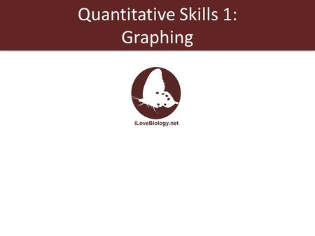 Quantitative Skills 1: Graphing. Qualitative data is not numerical and is usually subjective. Quantitative data is numerical and lends itself to statistical.
