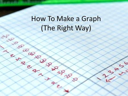 How To Make a Graph (The Right Way)