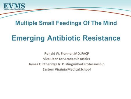 The dilemma of antibiotic resistance